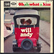 Beau 45T EP WILL ANDY / POCHETTE VOITURE AUTO / Oh Oh What a Kiss !!!