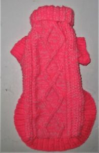 "handknitted aran jumper for a medium size dog measuring 18"" length"