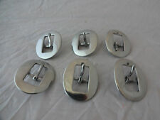 """Lot 6 Cart Buckles Horse Headstall Stainless Steel 1/2"""" Weaver Leather New Oval"""