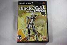 Dot Hack Redemption Vol 3 GU G.U Playstation 2 ps2 NEW Factory Sealed Near Mint
