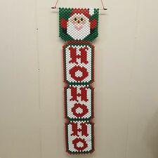 Beaded Wall Hanging Christmas Santa Claus HO HO HO Home Door Decor