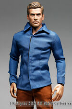 mc0389 Men's Fashion Design Blue Shirt for 1/6 Action Figure (Shirt ONLY)