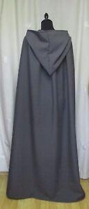 SPECIAL ORDER GREY HOODED CAPE/CLOAK  FANCY DRESS -  GANDALF - GHOST UK MADE