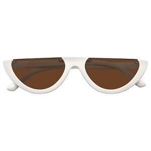 Clout Goggles Cat Eye Sunglasses Vintage Half Mod Style Retro Sunglasses