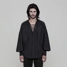 Punk Rave Men's Pirate Victorian Steampunk Renaissance Medieval Black Shirt