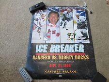 1996 NHL Pre-Season Hockey Game Rangers vs Ducks in Las Vegas Poster w/Gretzky