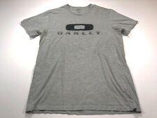 Oakley M Men's Short Sleeve Gray Embroidered T-Shirt Medium
