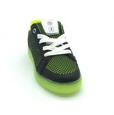 Geox Junior Kommodor Light-Up Boy's Trainers Black/Lime 50% OFF RRP