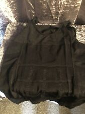 Men's Black Slimming Control Vest Size XL