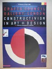 Original Poster Constructivism Crafts Council Gallery 1988