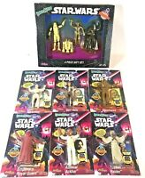Vintage Star Wars Bendems JusToys Bendable Posable Figures Topps Cards Lot NIB