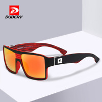 DUBERY With Box Men Polarized Sunglasses Outdoor Driving Square Sport Glasses