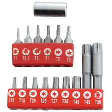 16pc Torx Bit Set Security Tamperproof T10-T50 Star T5-T9 Amtech L3220