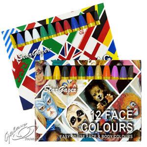 Stargazer 12 Face Body Paint Colour Sticks Crayons Painting Halloween Kit Set