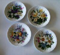Rochard Limoges France Set Of Four Spring Bouquet Plates