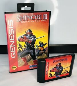 Shinobi III 3 Sega Genesis Original Game CIB Complete Video Game Without Manual