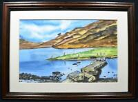 Original Irish Watercolour Painting Co Donegal Signed c1980s