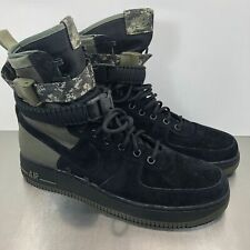 newest 31c3a 669b8 Nike SF Air Force 1 Boots Men Size 8.5 Black Medium Olive Green Camo 864024  004