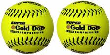 "New Set Of 2 Soft Balls Worth Sports Syco Super Gold Dot W00610536 Softball 12"""