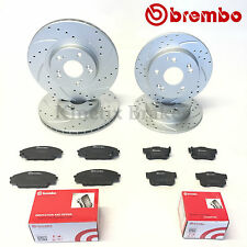 For Honda civic 2.0 type r ep3 front rear grooved brake discs and brembo pads