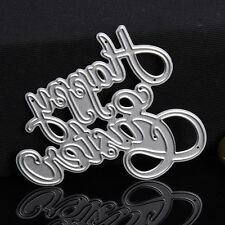 Letter Dies Metal Cutting Stencils For Scrapbooking Paper Cards Decor 73*63.2mm