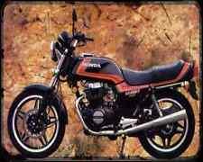 Honda Cb450T 82 1 A4 Metal Sign Motorbike Vintage Aged