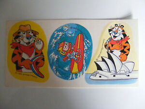 Vintage 1989  Kellogg  Tony  The  Tiger  Stickers   And  Captain  Rik  Sticker