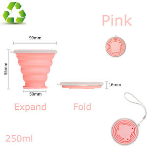 Collapsible Cup Silicone Travel Folding Cup Portable Retractable Camping Cups SC