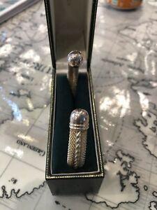 Ernest Jones Mens 925 Silver Toque Bangle