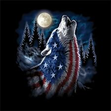 Flag Wolf Size 2 X Large-7 X Large Tank Tops