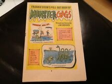 MONSTER FUN FRANKIE STEIN'S MONSTER GAGS 1970's Paper pull / cut out comic RARE