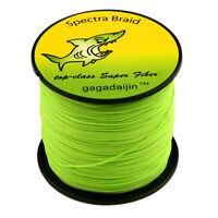 Green Strong 100% PE 100-1000M 6-300LB  Dyneema Power Super Braid  Fishing Line