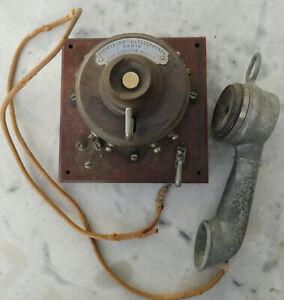 telephone ancien système Berthon Ader de la Societe industrielle des Téléphones