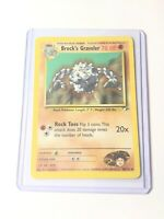 BROCK'S GRAVELER - Gym Heroes  - 40/132 - Uncommon - Pokemon Card - NM