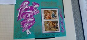 Dominica 1973  Christmas Stamps  Miniature Sheet