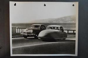 Vintage Photo RARE 1948 Davis Divan 3 Wheel Car & Studebaker 919066