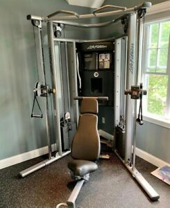 Life Fitness G7 Cable Dual Adjustable Pulley Showroom Model Perfect Condition