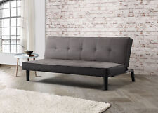 Birlea Aurora Sofa Bed 3 Seater Settee Grey Velvet Fabric Scandinavian Retro