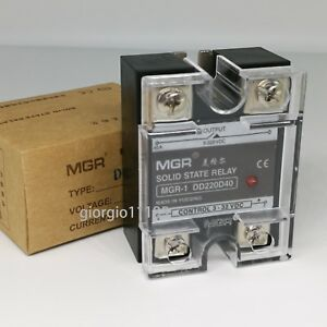 US Stock 40A Solid State Relay SSR DC-DC Input 3-32V DC Load 5-220V DC DD220D40