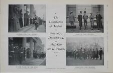 1901 PRINT DISTRIBUTION OF MEDALS DEEC 14th MAJOR GENERAL SIR TROTTER YEOMEN