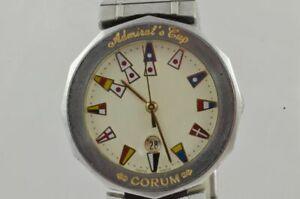 Corum Admirals Cup Men's Watch Quartz 34MM Steel With Steel Band Vintage RAR