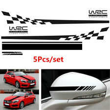 5x DIY WRC Checkered Flag Vinyl Stickers For Car Body Side/Hood/Rearview Mirror