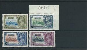 Northern Rhodesia 1935 Silver Jubilee set of four MNH SG 19/21 Cat £20