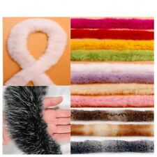 1 Meter Artificial Rabbit Fur Tapes Fluffy Trim Trimming Sewing Costume Crafts