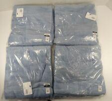 Pottery Barn Teen Quick Dry Organic Bath Shower Towels Peri Blue S/4 #9033