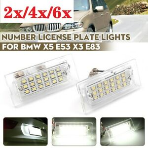 2x-6x for BMW X5 E53 X3 E83 03-10 LED Number License Plate Light Lamp Error Free
