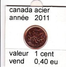 C 1 ) pieces de 1 cent  (acier )2011