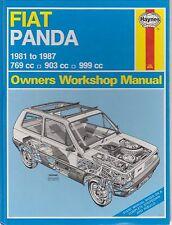 FIAT PANDA MK1 769 903 & 999 cc Benzina Fire 1981 - 1987 Officina Proprietari Manuale