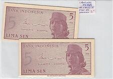 LOTE DE 10 BILLETES DE 5  SEN  INDONESIA ( SC )  ( MB3569 )