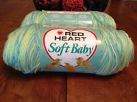 Red Heart Soft Baby Yarn 7956 Laddie Sport Weight 3-Ply 6oz Skein 100% Acrylic
